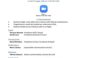 Andoc, lunedì 25 maggio al via da Napoli i webinar sul business design