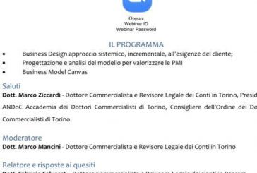 Business Design, venerdì 29 il corso dell'Andoc fa tappa a Torino