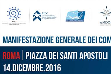 MOBILITAZIONE GENERALE DEI COMMERCIALISTI - ROMA 14 DICEMBRE 2016