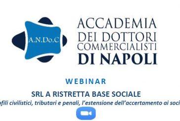 """""""Srl a ristretta base sociale"""", webinar dell'Andoc Napoli giovedì 4 febbraio (ore 15.30)"""